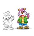 mascot cute bear cartoon vector image vector image