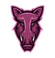 mascot stylized boar head vector image vector image