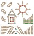 Meccano elements Wooden constructor set vector image
