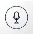 microphone icon line symbol premium quality vector image