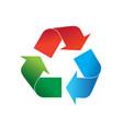 multicolor recycling logo icon vector image
