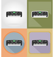 music items and equipment flat icons 12 vector image