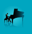 musician playing piano vector image