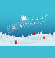 paper art concept of christmas with santa claus vector image