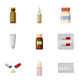 pharmacy icons set cartoon style vector image