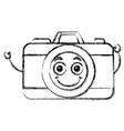 photographic camera kawaii character vector image vector image