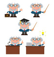 professor or scientist collection- 1 vector image