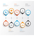 resources icons set collection of talking job vector image vector image