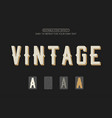 retro text effect vintage editable font effect vector image