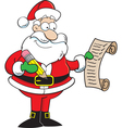 Santa Claus holding a list vector image vector image