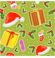 Seamless christmas pattern with gifts vector image vector image