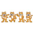 set cartoon cat character vector image vector image