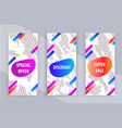 set of business white banners with triangle design vector image vector image