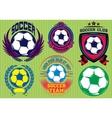 set soccer football badge logo design templates vector image vector image