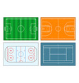 set sports field and court vector image