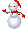 snowman christmas isolated on white background vector image