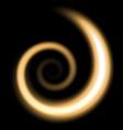 spiral of light golden color vector image vector image
