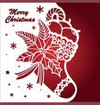 template for laser cuttingchristmas boots vector image vector image