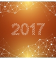 Text design Christmas and Happy new year 2017 vector image vector image