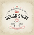 typography logo design in retro style vector image