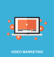 video marketing flat design concept vector image