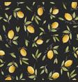 watercolor lemon seamless pattern vector image vector image