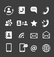 web coomunication and media icons vector image