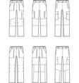 Work pants set vector image vector image