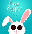 happy easter and white rabbit vector image