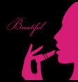 beauty girl silhouette vector image