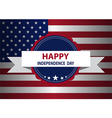 Independence day badge vector image