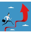 Running Businessman Stair vector image