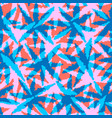 abstract coral and blue seamless pattern with vector image