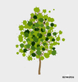 Abstract tree with green leaves on white vector image vector image
