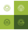agriculture and farming linear logo set vector image vector image