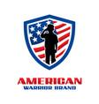 american army shield logo vector image vector image