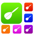 arrow to play dart set color collection vector image vector image