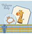 baby boy announcement card vector image vector image