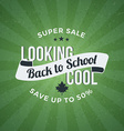 Back to School Typographic Vintage Design vector image vector image