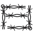 barbed wire frame vector image vector image
