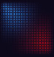 blue and red squares vector image vector image
