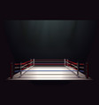 boxing ring isolated on black abstract background vector image