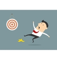 Businessman missing out on the target vector image vector image