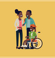 character design on african parents vector image vector image