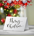 christmas greeting card mock up vector image vector image
