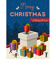 Christmas teamwork concept card design vector image vector image