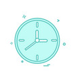 clock watch icon design vector image