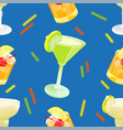 cocktail pattern set vector image