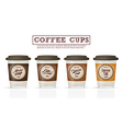Coffee badges and logo design on coffee cup vector image
