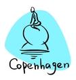 Copenhagen the capital of Denmark vector image